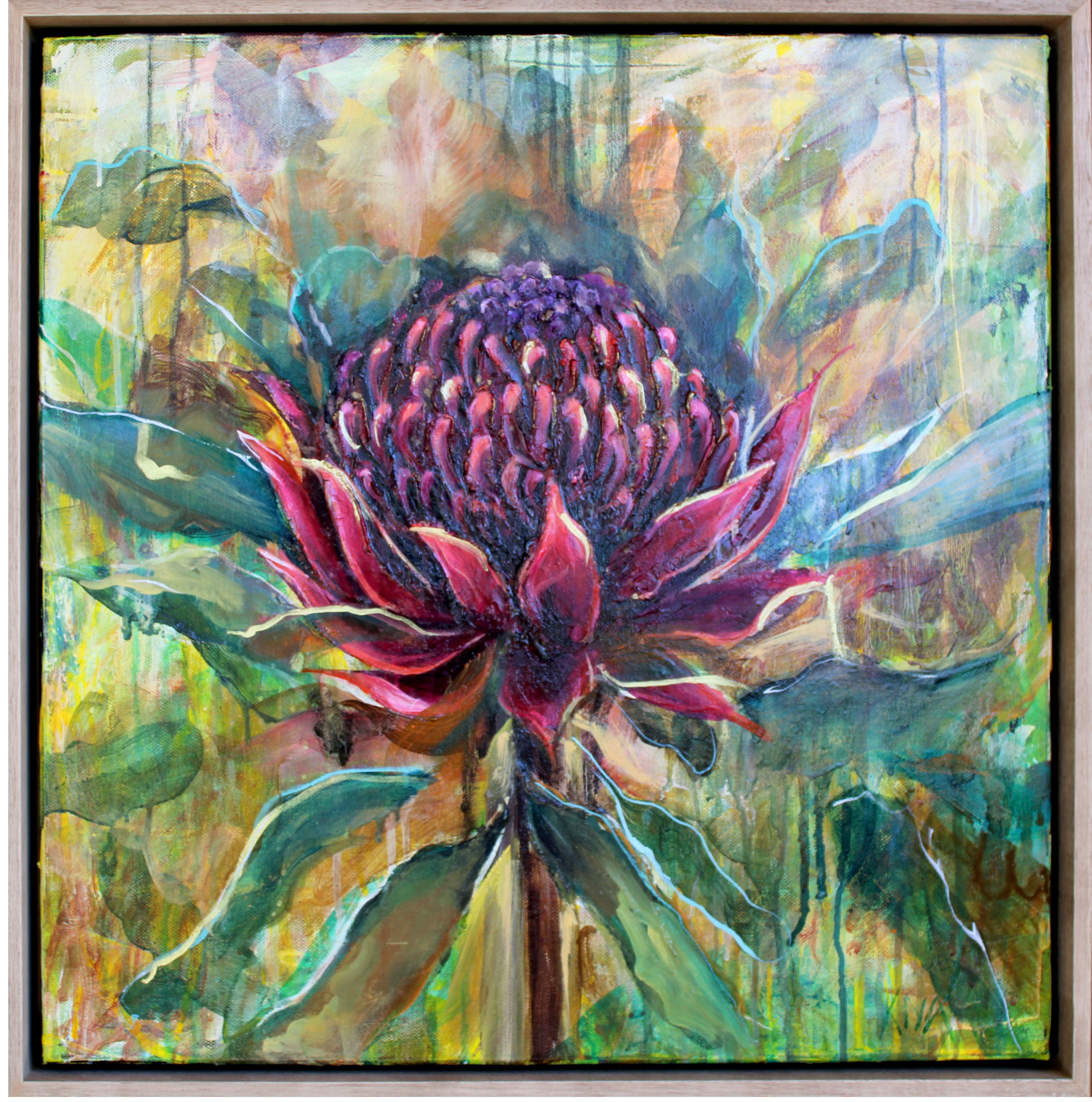 Original Painting 'Flowering Waratah'